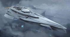 Futuristic sci-fi concept space ship #spaceship #starship