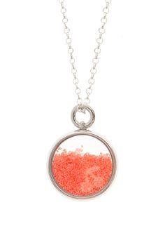Baby Chivor necklace in silver and indian pink sand - Aurelie Bidermann for Bonpoint