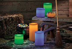 NEW! Light Illusion™ Color Changing White Outdoor LED Pillar – Remote Control Ready #PartyLite