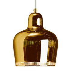 "BELL PENDANT LIGHT A330S - ""GOLDEN BELL"" Artek"