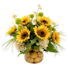 Faux Sunflower & Lemon