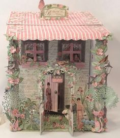 Hi everyone :-) Here is the mail box house I made for the Botanical Tea mini album. Also used some images from A ladies Diary both from G. Box Houses, Paper Houses, Graphic 45, 3d Paper Crafts, Paper Art, Mini Scrapbook Albums, Scrapbook Paper, Mini Albums, Round Robin