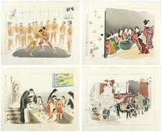 和田三造「続昭和職業絵尽」 | 山田書店美術部オンラインストア Asian Art, Sumo, Cards, Maps