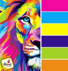 El león puede ser como tú prefieras, colores, vida, alegría y más con Home PSI Pinturas