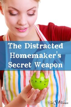 Are you distracted? Having troubles completing tasks or getting as much done as you'd like? Sometimes the solution is as simple as this small secret weapon! The Distracted Homemaker's Secret Weapon ~ Club31Women