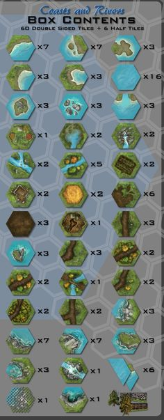 TerraTiles: Coasts & Rivers Tabletop Terrain System by Heath and Seth Robinson — Kickstarter