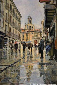 Spanish painter  Antonio Varas de la Rosa  SAN MARTНN. CALLE RUA