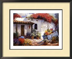 Carolyne Hawley Solid-Faced Canvas Print Wall Art Print entitled Casa Paloma, None Canvas Wall Art, Wall Art Prints, Poster Prints, Framed Prints, Canvas Prints, Big Canvas, Art Posters, Wall Mural, Scenic Wallpaper