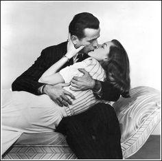 pinterest: geminoir    Bogart & Bacall Kiss