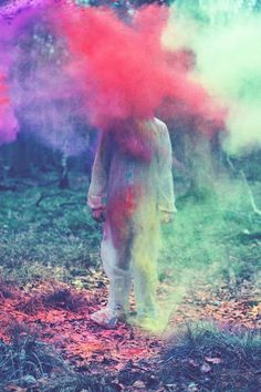 I really want to spend an afternoon playing with smoke bombs because of images like this.   Photo by Louis Lander Deacon
