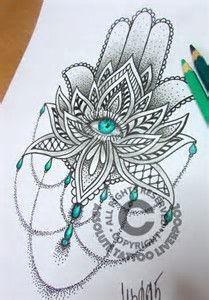 Mandala Hamsa Tattoo Design