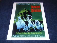 DISNEYLAND HAUNTED MANSION NEW ORLEANS SQUARE ATTRACTION POSTER PRINT