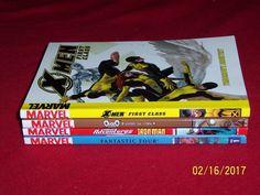 4 Marvel Comic Chapter Books Superheroes Ages 6-11 Fantastic Four X-Men Ironman #Marvel