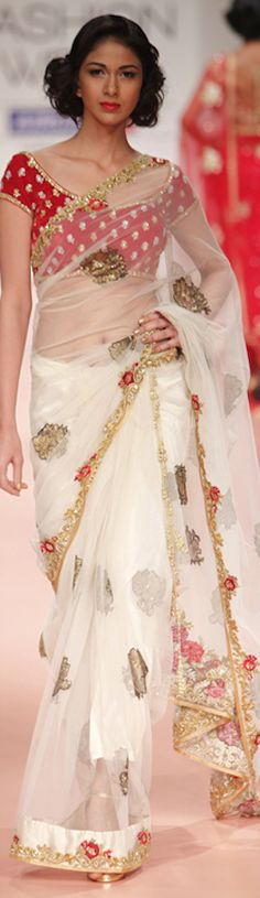 Bhairavi Jaikishan Saree at Lakme Fashion Week 2012 - original pin by…