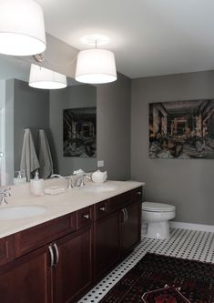 Sean's DIY Bathroom Lighting Makeover — Before & interior design decorating before and after bathroom design design ideas Modern Bathroom Design, Bathroom Interior Design, Bathroom Designs, Makeover Before And After, Swag Light, Diy Light, Room Closet, Cool Lighting, Apartment Therapy