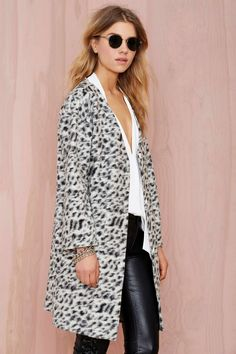 Line and Dot Helena Wool Coatigan | Shop Jackets + Coats at Nasty Gal