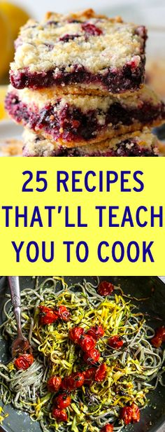 25 recipes that will help you learn how to cook