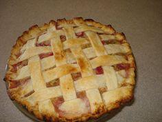 Lattice Rhubarb Custard Pie