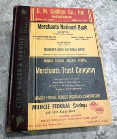 1957 Muncie Indiana City Directory Large Heavy Hardcover Book
