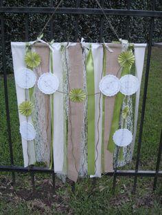 New wedding decorations diy backdrop etsy Ideas Ribbon Backdrop, Diy Photo Backdrop, Banner Backdrop, Diy Photo Booth, Diy Banner, Ribbon Curtain, Pallet Backdrop, Ribbon Banner, Ribbon Chandelier