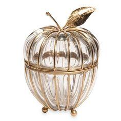 Apple Glass - Schmuckschachtel Apfel aus Glas und Metall