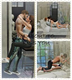 I'm About To Kiss You Sims couple poses by TheSense4 !