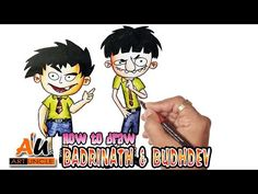 Badrinath aur budhdev animation cartoon : how to draw badrinath aur budhdev step by step Cartoon Drawing For Kids, Cartoon Drawings Of Animals, Cartoon Fish, Thumb Painting, Painting For Kids, Castle Drawing, House Drawing, Game Happy, Mountain Drawing