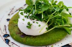 Michelin star chef Bruno Loubet of restaurant Bistrot Bruno and newly opened Grain Store shares a recipe from his recently released book, Mange Tout World's Best Food, A Food, Pea Shoot Recipe, Egg Recipes, Dinner Recipes, Potato Recipes, Bruno Loubet, Pancakes And Waffles, Gourmet