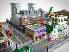 Enthousiasteling bouwt Springfield uit de Simpsons na in LEGO