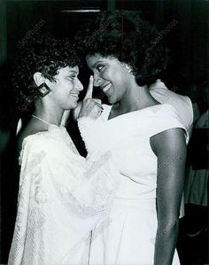1984 Debbie Allen & Phylicia Allen at La Dome Restaurant Press Photo