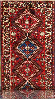 Bakhtiari Persian Rug Handmade X Authentic Another Nice Pattern