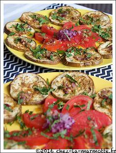Salade fraîcheur d'aubergines grillées au cumin | Marmotte cuisine !