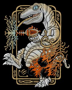 Velociraptor with a Ray Gun by Lucky1988, via Flickr