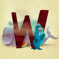 W is for... Art Print by Dave Mottram's Store | Society6