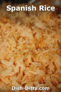 Spanish Rice Recipe by Dish Ditty #recipe #spanish #mexican #rice