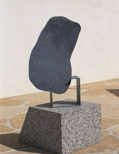 ISAMU NOGUCHI Magritte's Stone, 1982 Galvanized Steel Edition Sculpture 51 1/4 × 30 × 12 in 130.2 × 76.2 × 30.5 cm