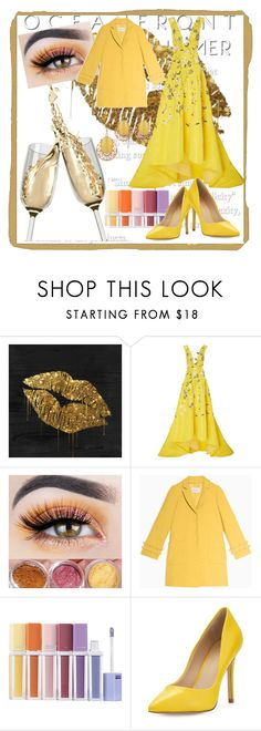 """""""Untitled #2"""" by sonajalali ❤ liked on Polyvore featuring Monique Lhuillier, Max&Co., Sephora Collection and Charles by Charles David"""