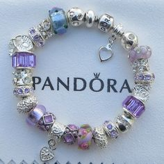 """hanging Beads ~ Authentic Pandora Sterling Silver Bracelet, Receipt, Gift Box, European Beads/Charms  """"FREE Shipping, FREE Grab-Bag"""" A4"""