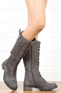 Cici lace up boots / bamboo