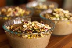 Typically Meghli is served to guests when coming to visit a new baby. It is also said to help mom produce more breast milk for the baby. Whether that is true or not Meghli is Glut… Arabic Dessert, Arabic Sweets, Arabic Food, Lebanese Desserts, Lebanese Recipes, Lebanese Cuisine, Vegan Recipes, Middle Eastern Desserts, Middle Eastern Dishes