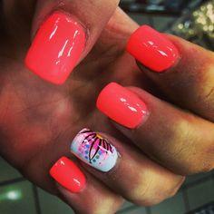 New birthday nails spring ideas Manicure Y Pedicure, Shellac Nails, Toe Nails, Acrylic Nails, Acrylics, Toe Nail Designs, Colorful Nail Designs, Acrylic Nail Designs, Spring Nails