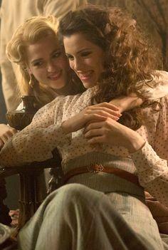 Katie McGrath (Lucy) and Jessica De Gouw (Mina) in episode 3 of Dracula tv series - sky.com/dracula