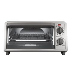"""Large enough for a 9"""" pizza or four slices of bread, the BLACK+DECKER 4-Slice Stainless Steel Toaster Oven with Broiler Pan complements any kitchen countertop. This compact, versatile toaster oven bakes, broils, toasts, and keeps food warm, at up to 450°F. It comes with a baking and broiler pan... - http://kitchen-dining.bestselleroutlet.net/product-review-for-blackdecker-4-slice-countertop-toaster-oven-stainless-steel-silver-to1322sbd/"""