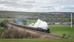 Returning home, 60103 rounds Smardale curve near Kirkby Stephen