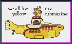 The Beatles Yellow Submarine Counted Cross Stitch PDF by Bel7861