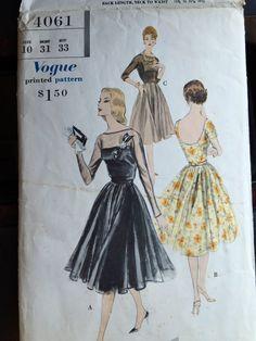 Vogue Special Design 4061 ca. 1959 One Piece by MyVDelightPatterns