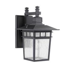 Shop for Transitonal 1-light Black Outdoor Wall-mounted Light Fixture. Get free delivery at Overstock.com - Your Online Garden