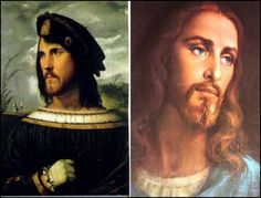 White Jesus modeled on Cesare Borgia? The theory is that people were generally not too enthusiastic about the Catholic Church's regular massacres of Jews and Muslims, because the people they were killing looked like Jesus.  Pope Alexander VI then ordered the destruction of all art depicting a Semitic Jesus and commissioned a number of paintings depicting a Caucasian Jesus.  His son, Cardinal Cesare Borgia, was the model for these paintings.  Thus, the nastiest of all the Borgias, became