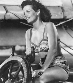 "Jane Russell en""La Sirena de las agua verdes"" (Underwater!), 1955"
