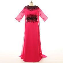 Una línea De gasa con cuentas Kaftan árabe musulmán Dubai De noche vestidos largos AbendKleider 2015 Robe De soirée De la cremallera para arriba S101304(China (Mainland))